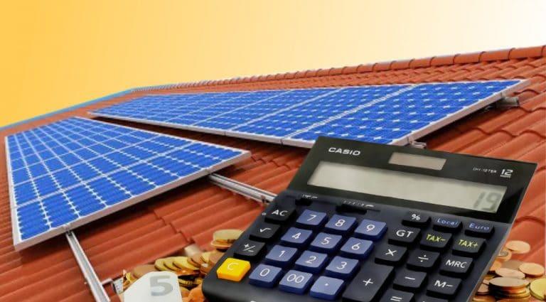 Calcul rentabilité panneau solaire